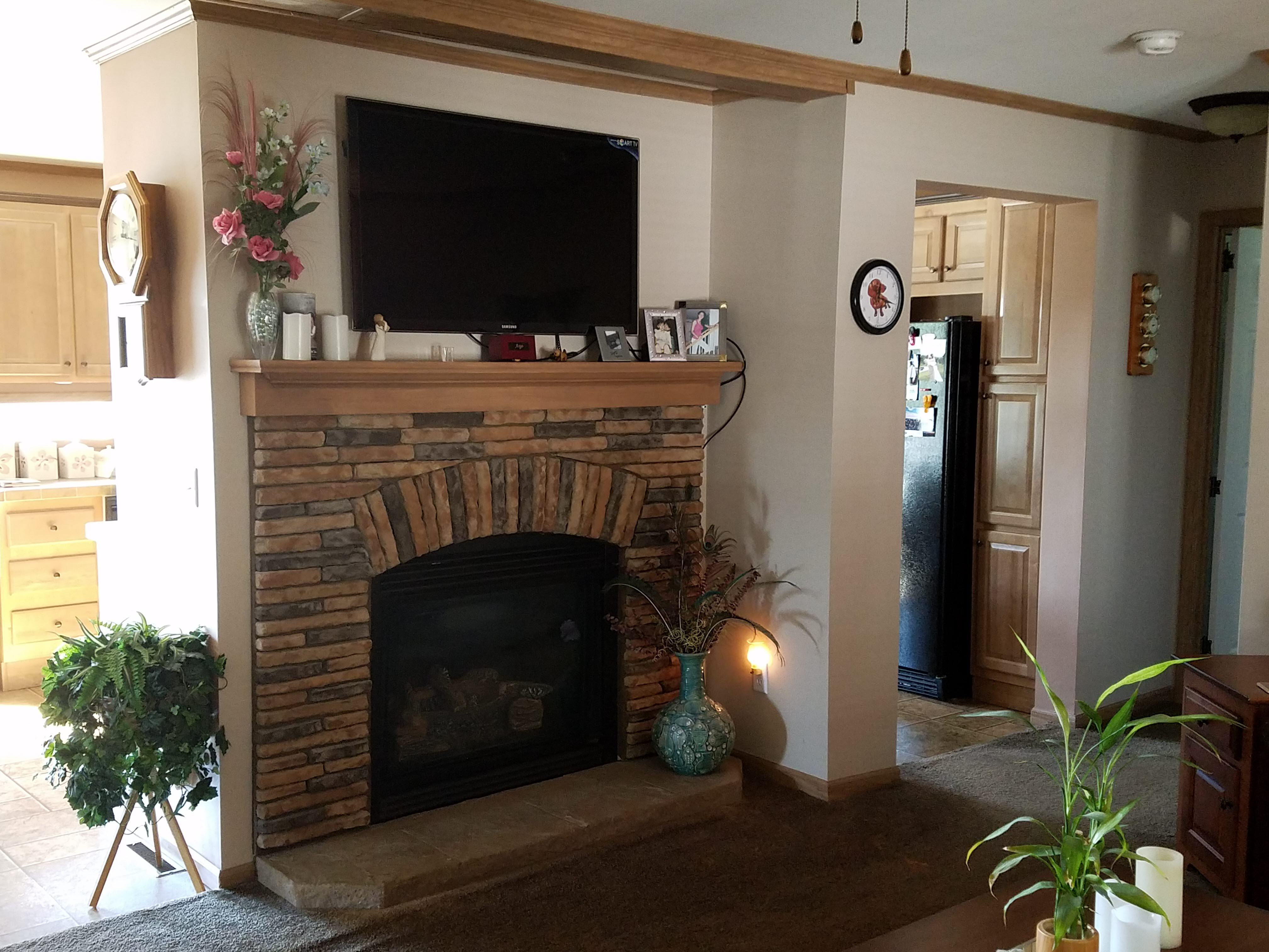 Living Rm - gas fireplace