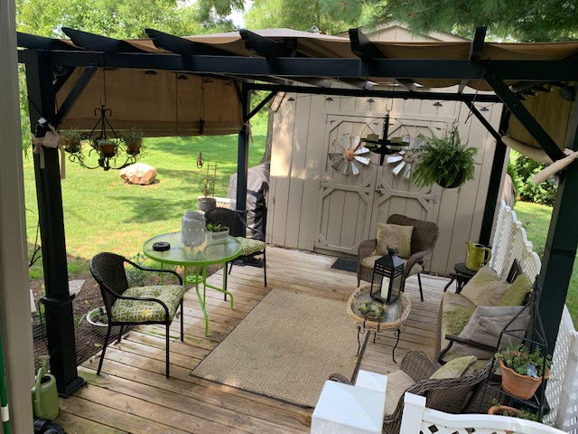 Rear Deck with Pergola